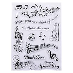 - High-quality clear stamps for paper crafting - Clear stamps are easy to use - Just position them on an acrylic block (not included) and start stamping! Great for card making scrapbooking and other paper crafts - Material: Silicone - Size:15x21m