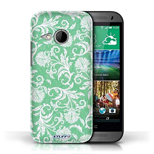 Stuff4 Var voor HTC1-CC Bloemenpatroon HTC One/1 Mini 2 Groene achtergrond
