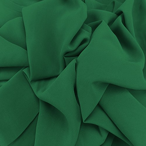 Blaugrün Georgette Chiffon Synergy Uni-Stoff, Bridal, Kleid Stoff 152,4cm 150cm Breite–Meterware
