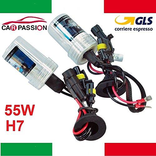 Juego de bombillas de xenón H7 HID de 55 W, 6000 K, 12 V, para faros delanteros