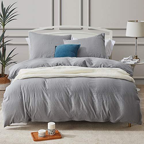 Hansleep Ropa de cama de microfibra, funda nórdica suave y transpirable, con cremallera y 1 funda de almohada de 80 x 80 cm, para verano e invierno