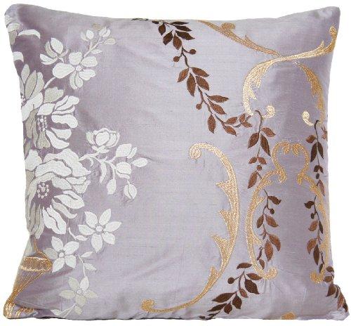 Designers Guild Housse de coussin soie or blanc brodé fleurs Decor Taie d'oreiller margot Couvre-lit cas d'Acacia