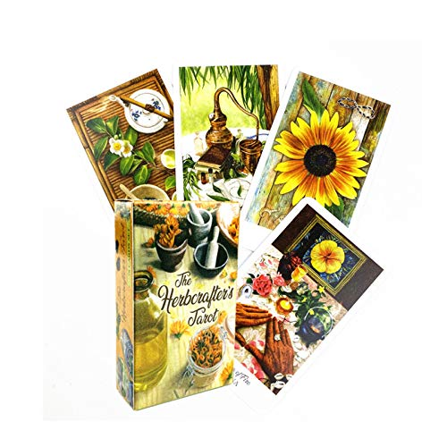 78Pcs English Version The Herbcrafters Tarot Deck Flower language Color Centennial Oracle Cards Game