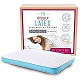 My Lovely Bed - Latex Kopfkissen 60x40 cm - Feste Unterstützung - Ergonomisch : stützt den Nacken...