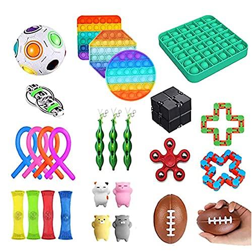 Juego de juguetes de Fidget Sensory Fidget Toys Pack para niños o adultos Fidget Toys Pack Fidget Juguetes Fidget Box