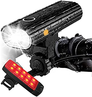 Te-Rich Rechargeable Bike Lights Front and Back - Ultra...