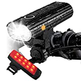 Te-Rich Rechargeable Bike Lights Front and Back - Ultra Bright Bicycle...