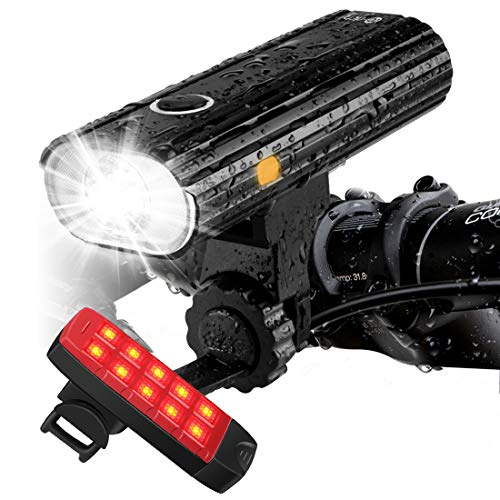 Te-Rich Rechargeable Bike Lights Front and Back