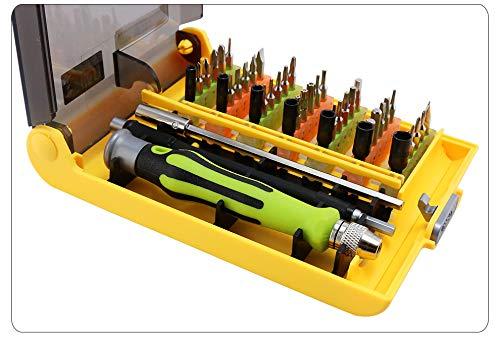 Laymann 45 in 1 precisieschroevendraaierset, schroevendraaier, opening, reparatiegereedschap voor mobiele telefoons, professionele bits met doos