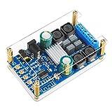 Blue~Tooth Amplifier Board, DROK Digital Amplifier Wire~Less BT 3.0 4.0 4.1 Audio Amp Board Headphone 2 Channel 50W+50W Blue~Tooth Speaker Board Small Amplifier Module with Case