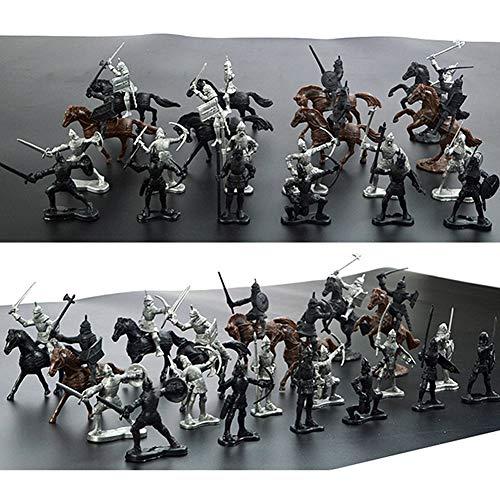 LZDseller01 28 Teile/losSoldat Modell Pferde Figuren Kinder Spielzeug, Ritter Spiel Soldat Modellbau Zubehör, DIY Montiert Schloss Modell Set, Spielset Geschenke