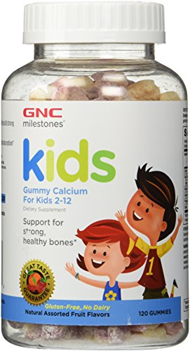 GNC Milestones Kids Bone Health Gummy, Assorted Fruit...