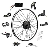 EBIKELING 36V 500W 700C Geared Waterproof Electric Bike Kit - Ebike Conversion Kit - Electric Bike Conversion Kit (Front/LCD/Thumb)