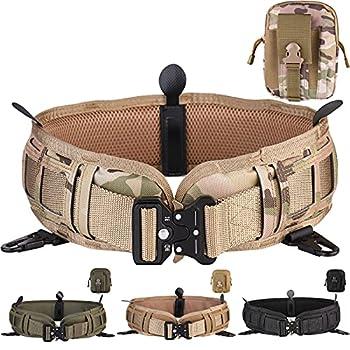 Tactical Battle Belt Set War Belt Military Wasit Belt with Mesh and Lining Thickening EVA Tactical MOLLE Belt