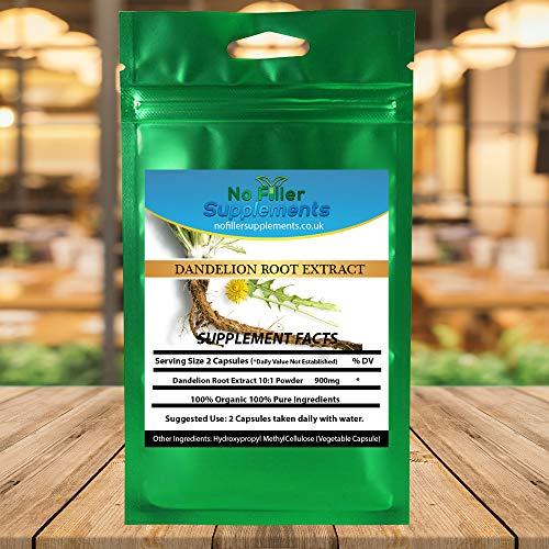 NoFillerSupplements Organic Dandelion Root 60 Veggi Capsules (Taraxacum)