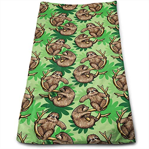 Lindos perezosos Cecropia deja máxima suavidad absorbente toalla impresa toalla de baño toalla de mano toalla de pelo 30 cm * 70 cm