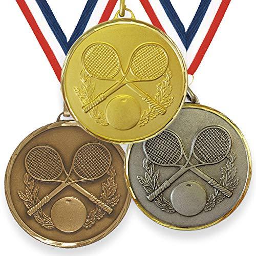 Trophy Monster Medalla de squash de alta definición de 50 mm con cinta de latón   oro, plata o bronce