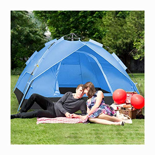 Outdoor Picnic Camping Tent,Large Tent 3-4 Person,Family Cabin Tents for Camping,Waterproof, Double Deck Double Door,Big Tent for Outdoor,Picnic,Camping,Family,Friends Gathering