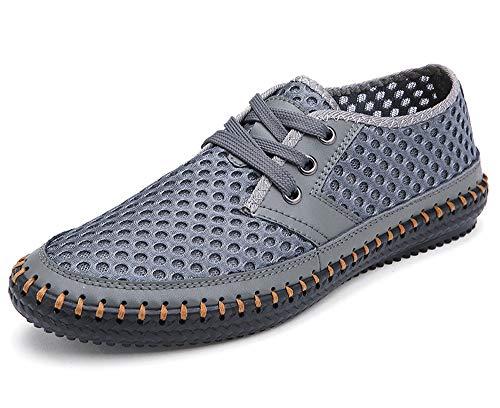 MOHEM Women's Men's Poseidon Water Shoes Lightweight Quick Dry Barefoot Sneaker for Driving Walking Aqua Sports Beach Swim Surf Exercise(3166Gray47)