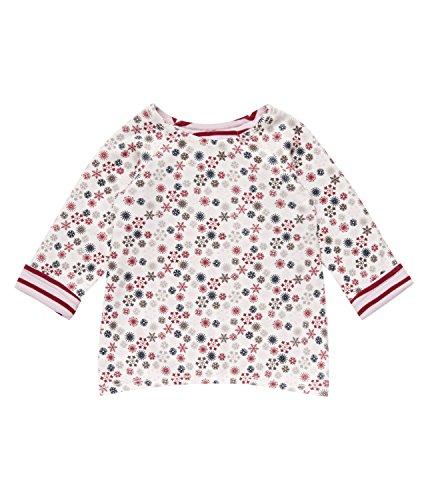 SENSE ORGANICS Dolores Langarmshirt (beidseitig tragbar) aus Bio-Baumwolle GOTS-Zertifiziert T-Shirt, Multicolore (Pale Ice Pink Stripes + AOP), 68 cm (Taille du Fabricant: 3M) Bébé Fille