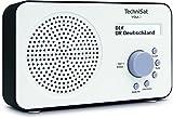TechniSat VIOLA 2 tragbares DAB Radio (DAB+, UKW, Lautsprecher, Kopfhreranschluss, zweizeiligem Display, Tastensteuerung, klein, 1 Watt RMS) wei/schwarz