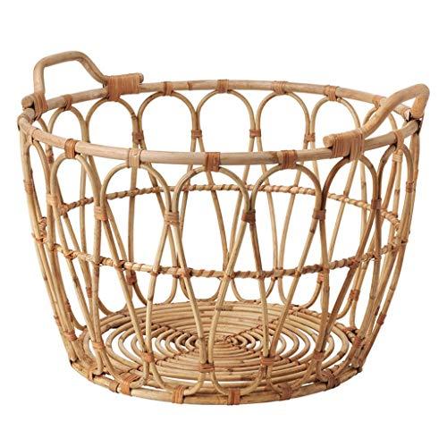 ZJWmgcwt Storage Basket Rattan Storage Bucket Storage Hamper(545439cm)