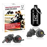Motorcycle Ear Plugs, 2 Pairs Hearing Protection Reusable Ear Plugs for Motor, Noise Reduction Minimize Wind Noise Ear Plugs for Motorsports, Parachuting, Open-Topped Car , Travel