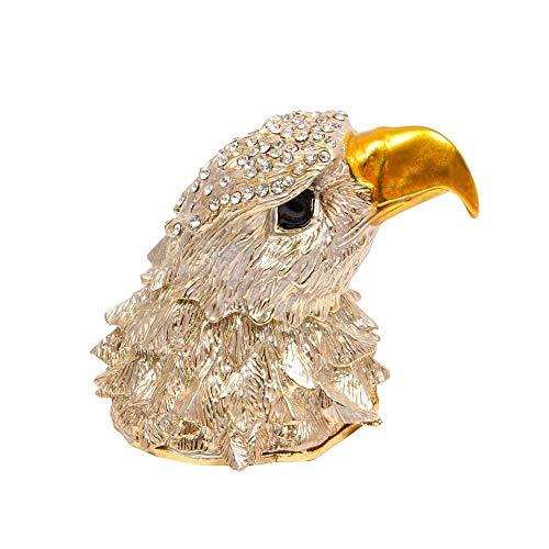 WMYATING El joyero Tiene una Forma novedosa y única, un DIS Caja de joyería Marca Metal Exquisito Estilo de Cabeza de águila Artificial para joyería