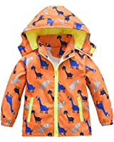 Boys Girls Jacket Hooded Trenc...