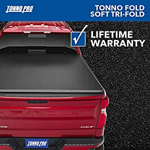 "Tonno Pro Tonno Fold, Soft Folding Truck Bed Tonneau Cover | 42-509 | Fits 2014 - 2020 Toyota Tundra (includes track sys. clamp kit) 6'5"" Bed"