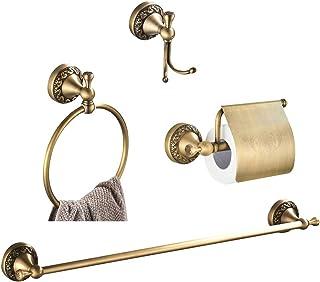WOMAO zestaw akcesoriów łazienkowych, antyczny mosiądz, styl retro / vintage, zestaw akcesoriów łazienkowych montowany na ...