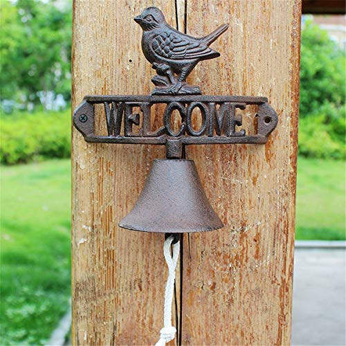 Vintage Bell Cast Iron Wandmontage Retro Nostalgische Cast Iron deurbel Garden Home wandkleden Decorations Wall Mounted Voordeur Bell voor Garden Farmhouse Yard
