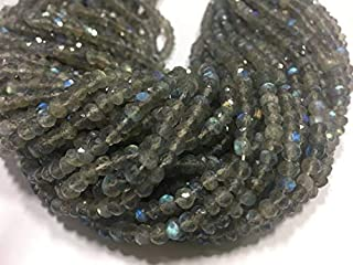 Jewel Beads Natural Beautiful jewellery Fire Labradorite Rondelle Faceted Beads, 13 Inches Strand, 5mm Approx, Pack Of 5 StrandsCode:- JBB-21455
