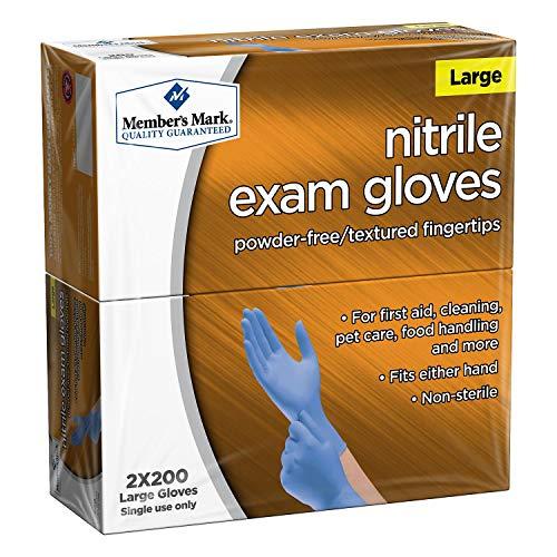 Member's Mark Nitrile Exam Large Gloves 2 X 200