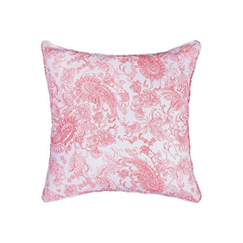 Read About Elk-Home PLW007B-P Rajasthan - 20x20 Pillow Cover Only, White/Blue/Hand-Printed Finish