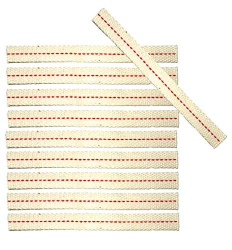 10x Docht für Dietz Sturmlaterne, passgenau, 12,5 mm breit, für alle Modelle 254 mm hoch, Ersatzdocht Made in Germany