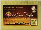 Aloha Island Coffee Medium Roast Organic 100% Pure Kona Coffee Pods, 18 Pods, 18-Count