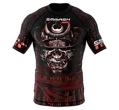 SMMASH Rashguard SAMURAI corto manica S M L XL XXL XXXL MMA BJJ UFC sport di combattimento (M)
