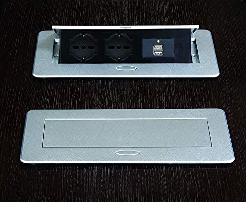 IPEA – Enchufe múltiple empotrable para mesa o escritorio con doble puerto...
