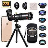 11 in 1 Phone Camera Lens kit, 22X Telephoto Lens,0.65X Wide Angle Lens,15X