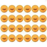Lixada 24PCS 3-Star 40mm Pelotas de Tenis de Mesa Pelotas de Ping Pong Pelotas de Entrenamiento Avanzado para Aficionados (Naranja)
