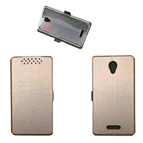 Qiongnian Schutzhülle für Alcatel Pop 4 Plus, Cover für TCL Optus X Smart 4G 5056I, Hülle für Alcatel One Touch Pop 4+ 5056A 5056E 5056G 5056D 5056X Hülle Hülle Cover Pink Gold