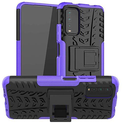 La funda de teléfono QIWANG es compatible con Redmi Note 3/4X/5A, TPU silicona de doble capa con soporte, carcasa rígida de policarbonato.