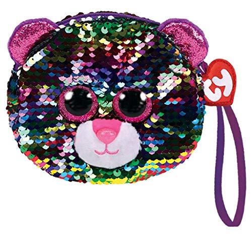 Ty - Bolsa de peluche, diseño de leopardo
