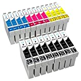 ESMOnline 20 komp. XL Druckerpatronen für Epson Stylus SX445W SX440W