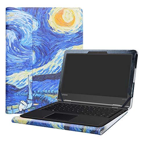 Alapmk Diseñado Especialmente La Funda Protectora de Cuero de PU para 11.6' Lenovo Flex 11 CHROMEBOOK/Lenovo N23 Yoga Chromebook/Lenovo Flex 4 11 4-1130 Series Ordenador portátil,Starry Night