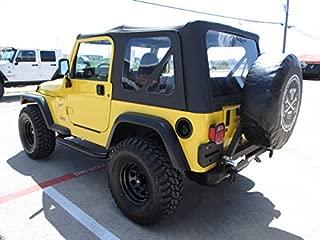 1997-2006 Jeep Wrangler TJ/LJ Rear Rock Bumper With Swing Away Tire Carrier No Hitch