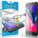Power Theory Panzerglas kompatibel mit iPhone 8/iPhone 7 [2 Stück] - Schutzfolie mit Schablone, Panzerglasfolie, Panzerfolie, Glas Folie, Bildschirmschutzfolie, Schutzglas