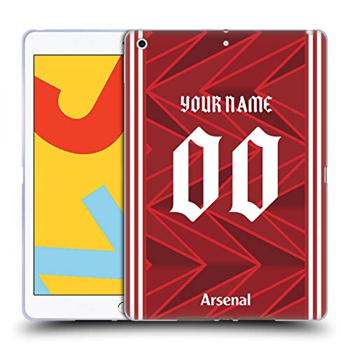 Head Case Designs Officially Licensed Custom Customised Personalised Arsenal FC Home 2020/21 Kit Carcasa de Gel de Silicona Compatible con Apple iPad 10.2 (2019)/(2020)