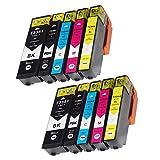 Teng® - Cartuchos de tinta para Epson Expression Premium XP-540, XP-7100, XP-530, XP-640, XP-635, XP-630, XP-645, XP-830, XP-900-2, color negro, 2 cian, 2 magenta y 2 amarillo